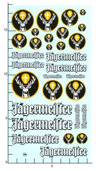 Wollek Jägermeister planche decals 1//18 tenue B
