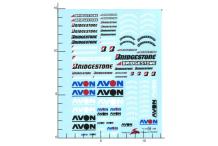 Décalcomanie Avon Bridgestone 1/24 (REF : 182)