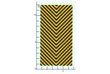 Décalcomanie Chevrons jaunes et noirs 1/43 (REF : 237)