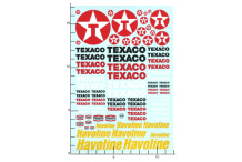 Décalcomanie Texaco/Havoline 1/43 - 1/32 - 1/24 - 1/18 (REF : 249)