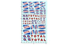 Décalcomanie vieux Logo Total 1/24 - 1/18 (REF : 266)