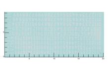 Décalcomanie Chiffres blancs ancienne typographie 1/43 (REF : 283)