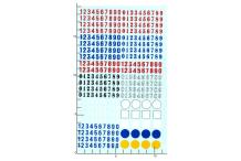 Décalcomanie Chiffres et ronds divers couleurs 1/43 (REF : 297)