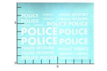 Décalcomanie Police Blanc (REF : 308)