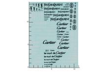 Décalcomanie Cartier Yves Saint Laurent 1/43 - 1/32 - 1/24 - 1/18 (REF : 311)