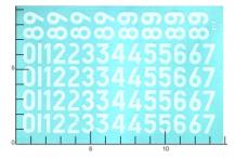 Décalcomanie Chiffres blancs ancienne typographie 3 1/24 (REF : 317)