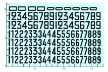 Décalcomanie chiffre noirs ancienne typographie 1 1/24 (REF : 319)