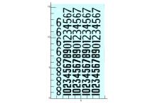 Décalcomanie chiffre noirs ancienne typographie 2 1/24 (REF : 320)