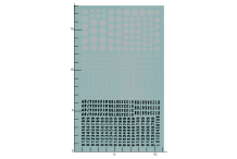 Décalcomanie chiffre blanc et noir et rond blanc 1/87 (REF : 346)