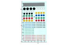 Décalcomanie chiffre et rond couleur 1/87 (REF : 348)