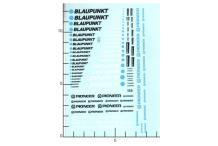 Décalcomanie blaupunkt pioneer 1/43 - 1/32 - 1/24 (REF : 356)