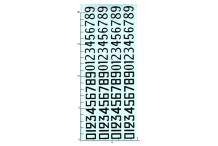 Décalcomanie Chiffres noirs ancien dessin 1/18 (REF : 371)