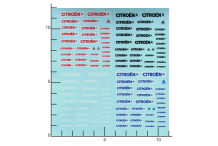Décalcomanie Citroën 1/43 - 1/32 - 1/24 (REF : 374)