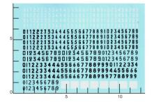 Décalcomanie ancien chiffre noir et blanc 1/87 (REF : 406)