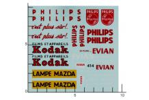 Décalcomanie Dinky Kodak Philips Evian (REF : 414)