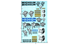 Décalcomanie divers dessin michelin 1/18 (REF : 426)