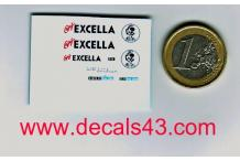 Décalcomanie café excella citroën hy type h 1/87 (REF : CS104)