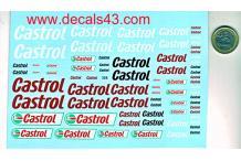 Décalcomanie castrol nouveau dessin 1/24 1/18 (REF : CS117)