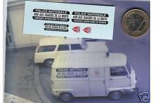 Décalcomanie déco CRS sur Estafette Renault 1/43 (REF : CS11)