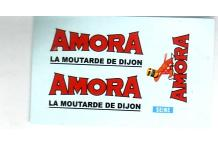 Décalcomanie Amora moutarde 1/43 (REF : CS4)