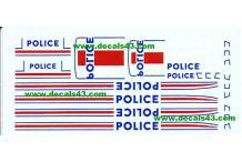 Décalcomanie déco police 1/43 (REF : CS16)