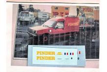 Décalcomanie pinder renault express 1/43 (REF : CS71)