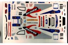 decalcomanie SEAT CORDOBA EV2 WRC N° 9 et N° 10 FINLANDE 1999 1/43